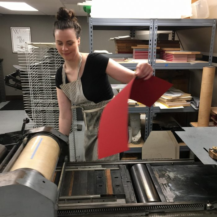 Katherine Taylor – Letterpress Printer and Bookbinder